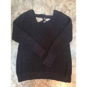 Torrid Size 00 Marled Knit Lace Up Back Sweater